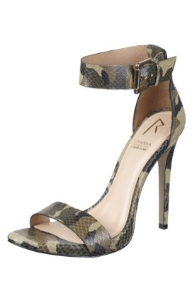 Rihanna for River Island Fall/Winter 2013 camouflage Barely There stiletto sandals