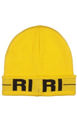 Rihanna for River Island yellow Riri beanie