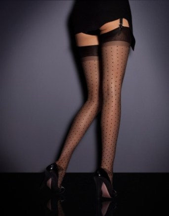 Agent Provocateur polka dot stockings