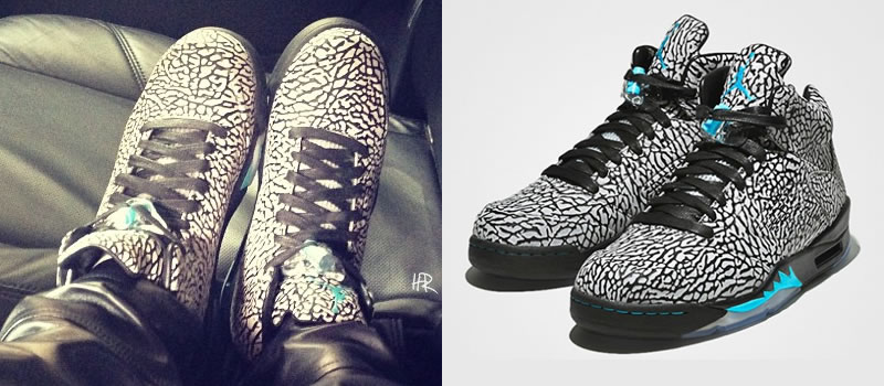 Rihanna wearing Air Jordan 5 3lab5 sneakers