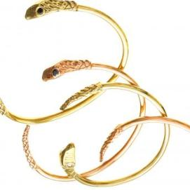 Jennifer Fisher large snake cuff with CZ eyes