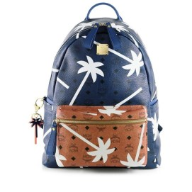 MCM bi-colour palm tree-printed backpack