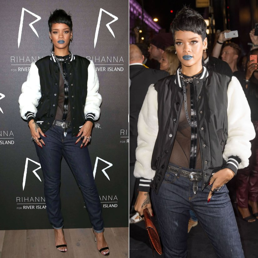 Rihanna at the launch of Rihanna for River Island Fall 2013