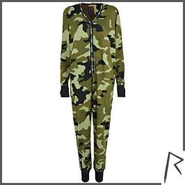 Rihanna for River Islan camouflage jumpsuit