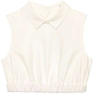 Carven cropped Oxford shirt