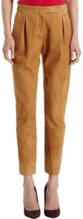 Holmes & Yang suede trousers