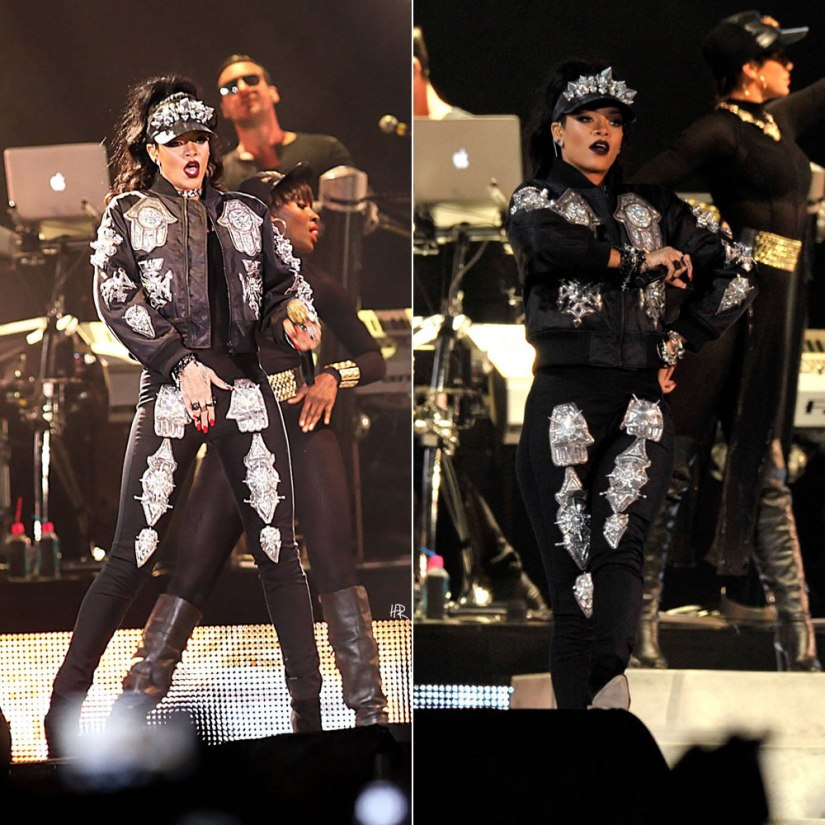 Rihanna performing in South Africa wearing KTZ spring/summer 2014 womenswear