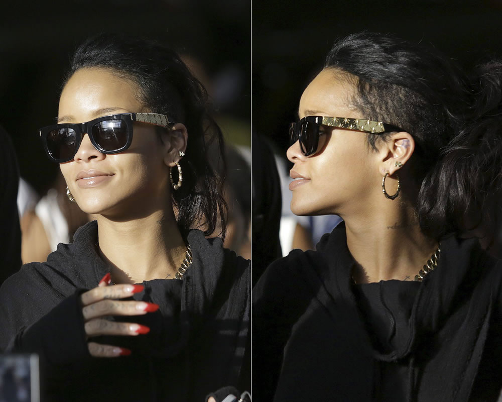 f8eabba2eef4 Rihanna has been sporting some fabulous black and gold sunglasses by Super  and I finally have some details to share with you! Our favourite pop star  was ...