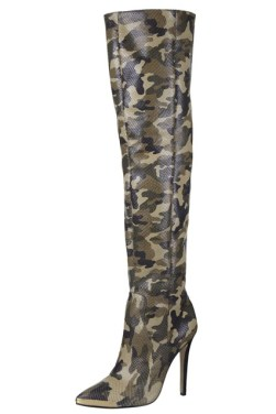 Rihanna for River Island limited edition camouflage boots