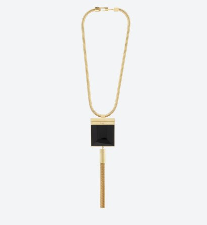 Saint Laurent onyx tassel necklace