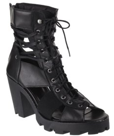Rihanna for River Island cutout lace-up boots