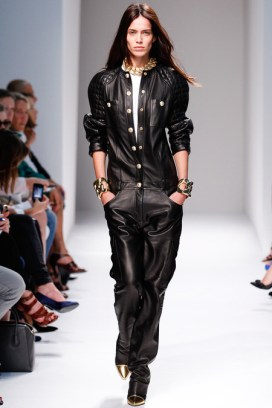 Balmain Spring/Summer 2014 leather jumpsuit