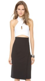 Dion Lee Vertigo wrapped halter top