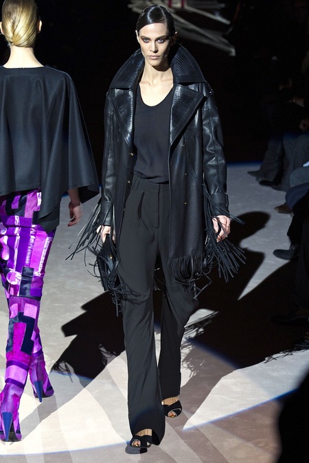Tom Ford Fall 2013 fringed leather jacket