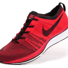 Nike Flyknit Trainer sneakers in Hot Red/Black