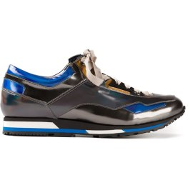 Lanvin holographic panelled sneakers