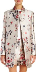 Stella McCartney floral-jacquard coat and shorts