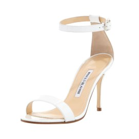 Manolo Blahnik white Chaos sandals