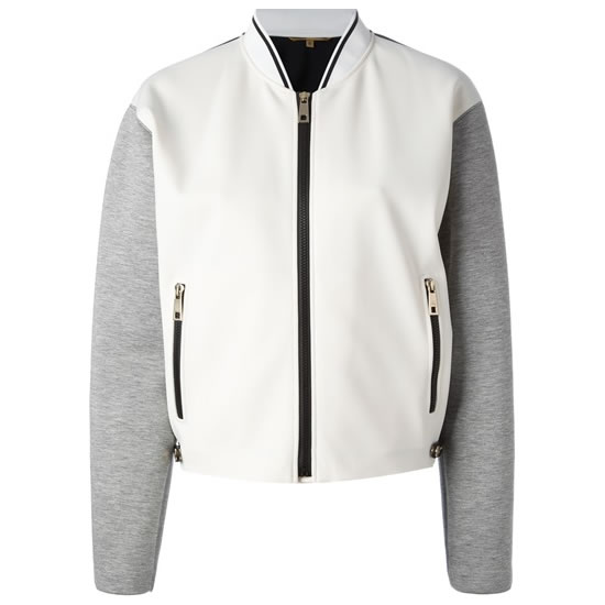 Fay colour block bomber jacket
