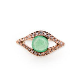 Jacquie Aiche gemstone and pavé diamond eye ring