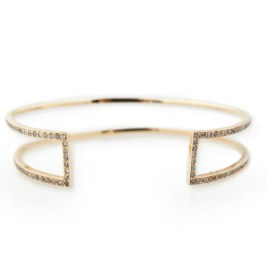 Jacquie Aiche H cuff with pave diamonds
