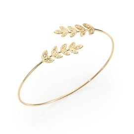 Jacquie Aiche diamond and gold leaf cuff