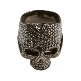 Lynn Ban diamond skull ring