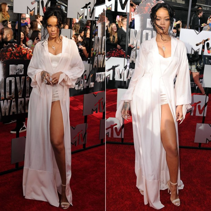 Rihanna At Mtv Movie Awards 2014 Red Carpet Haus Of Rihanna