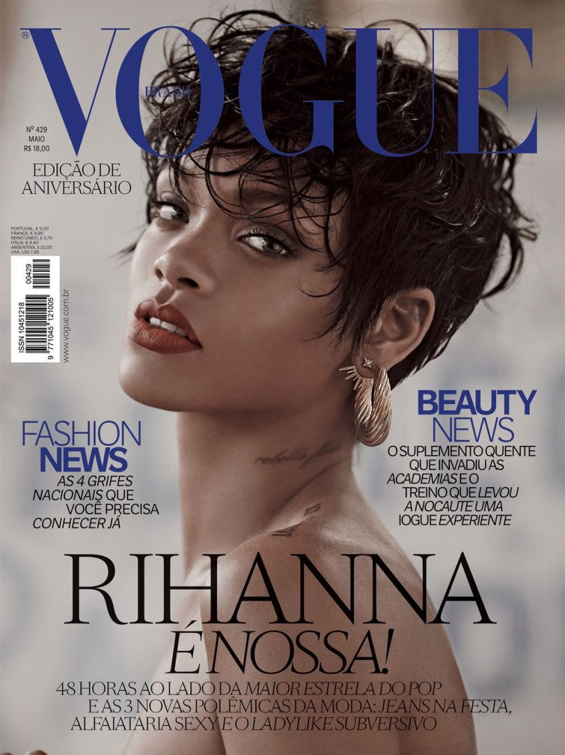 Rihanna covers Vogue Brazil May 2014