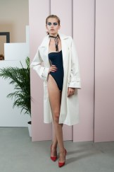 Adam Selman Spring 2014 white coat