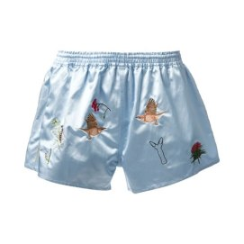 Bernhard Willhelm embroidered cotton shorts