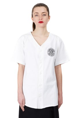 DKNY for Opening Ceremony token logo baseball shirt