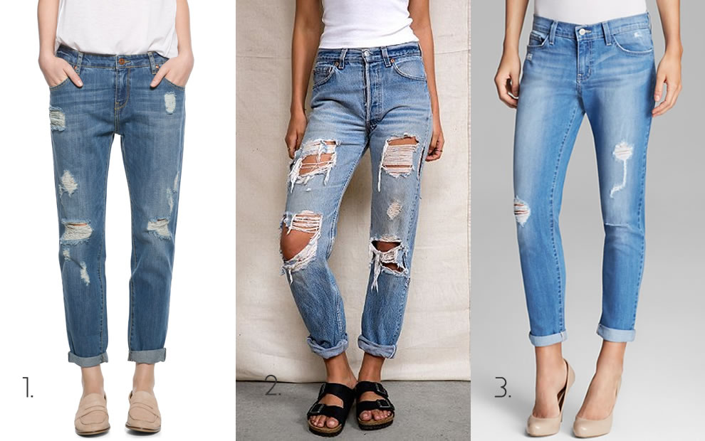 The Look For Less Distressed Boyfriend Jeans - Haus of Rihanna