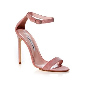 Manolo Blahnik Chaos pink suede sandals