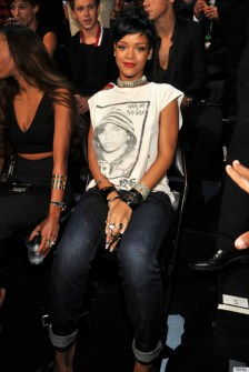 Rihanna at the MTV VMA's in Lynn Ban jewelry