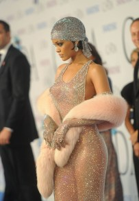 Rihanna at the 2014 CFDA awards in a dress by Adam Selman