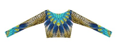 Cia Maritima Cores do Brasil cropped top