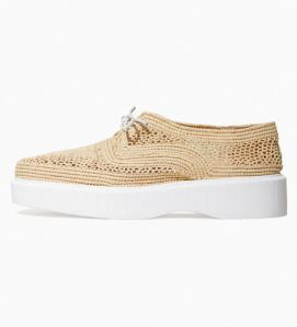 Robert Clergiere Poco raffia Oxfords