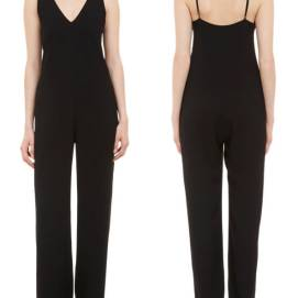 T by Alexander Wang black v-neck jumpsuit