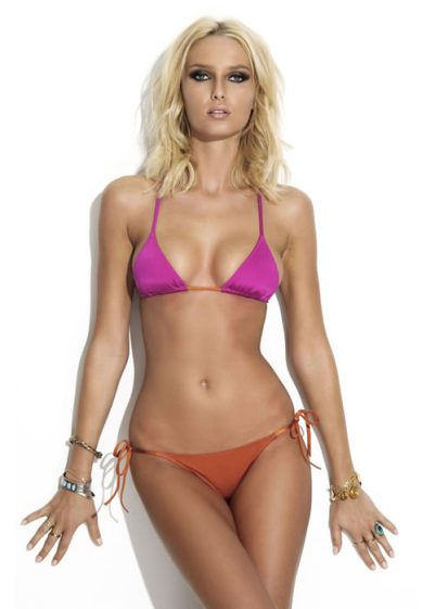 Charlie by Matthew Zink Adriana pink and orange bikini