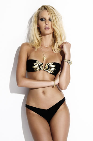 Charlie by Matthew Zink Vita Fan Foil black and gold bikini