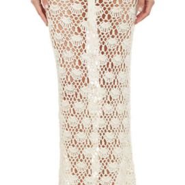 Natalie Martin Ness cream crochet skirt