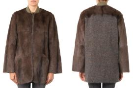 Isabel Marant Adele fur and knitted jacket as seen on Rihanna