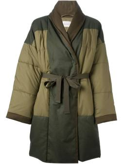Isabel Marant Étoile Flor quilted coat as seen on Rihanna