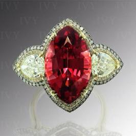 Ivy New York rholodite garnet and diamond ring