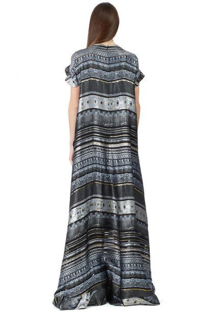 Kenzo silk ribbons jacquard dress as seen on Rihanna