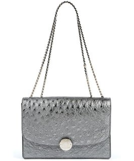Marc Jacobs Fall 2014 - Ostrich Trouble silver shoulder bag