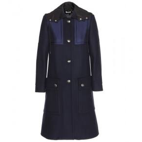 Miu Miu wool coat with shell detail as seen on Rihanna
