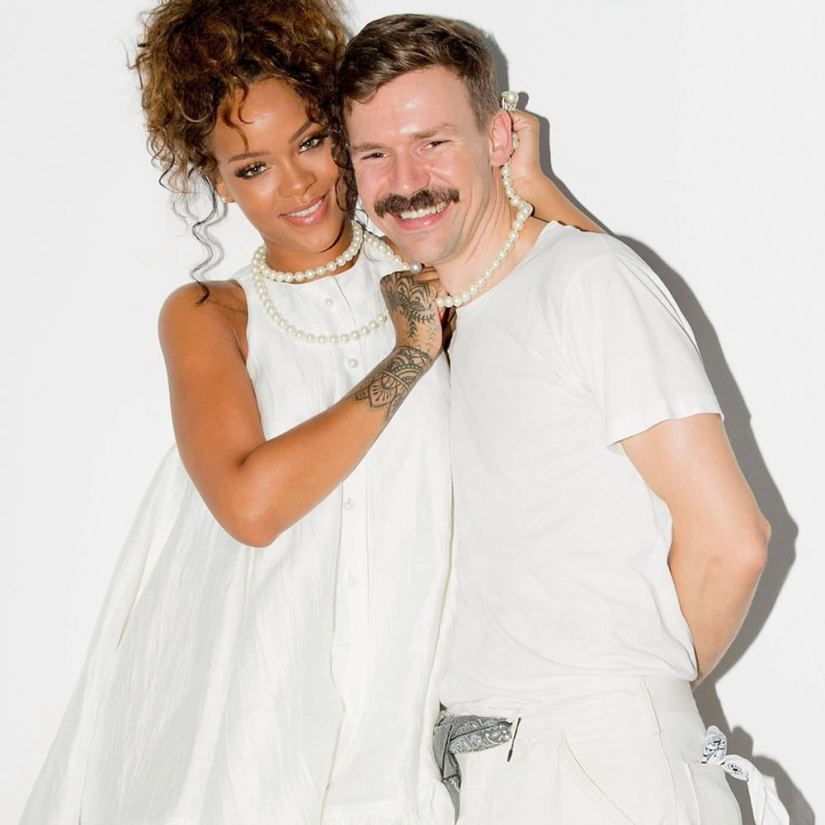 Rihanna and Adam Selman backstage at Adam Selman Spring/Summer 2015 collection runway show