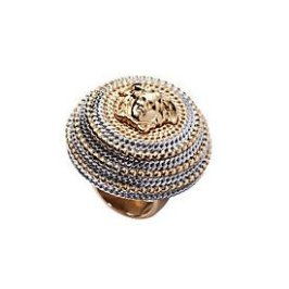 Versace Medusa two-tone cocktail ring